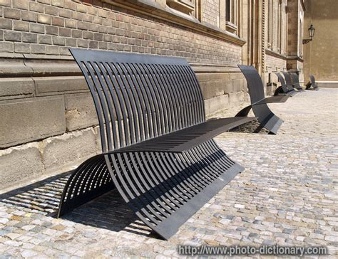 definition of benches metal benches photo picture definition at photo