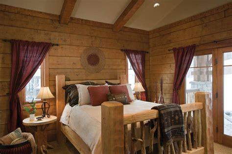 log cabin bedroom decor tamarack idaho log home precisioncraft log and timber homes