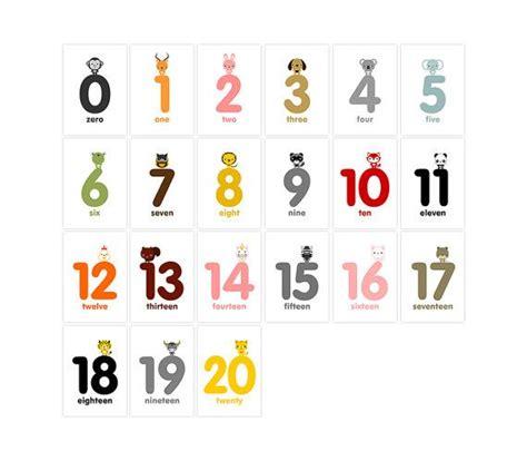 printable animal numbers animal numbers flash cards 0 20 printable pdf number