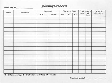 printable log book for vehicles printable vehicle log book sle
