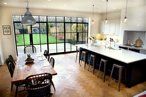 download industrial look widaus home design steel windows bring industrial style to domestic extension