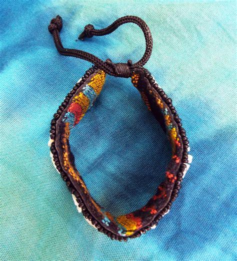 Handmade Hippie Jewelry - bracelet beaded floral flower handmade seashell shell