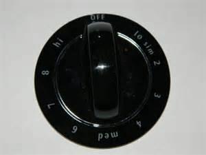 frigidaire cooktop fec36s6eb1 oem replacement part knob