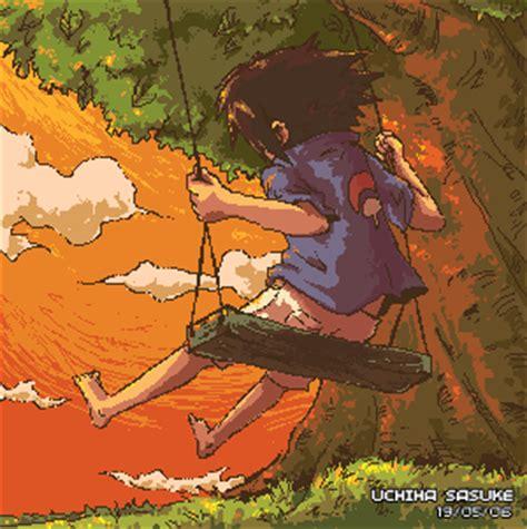anime swing sasuke on a swing by jingster on deviantart