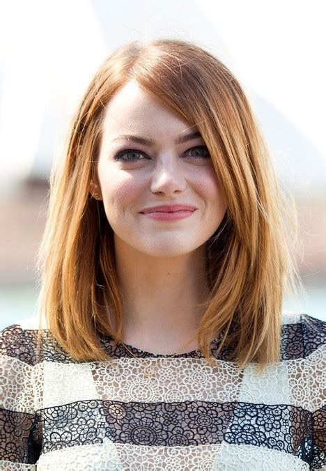 bob hairstyles for long hair with round face shape 06 long bob hairstyle for round faces emma stone hairstyles