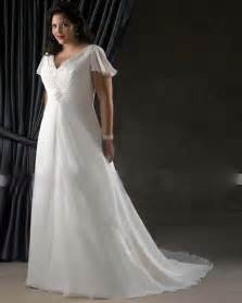 plus size wedding dresses with sleeves and color custom plus size wedding dresses chiffon gown