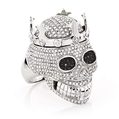real hip hop jewelry mens skull ring 10k gold
