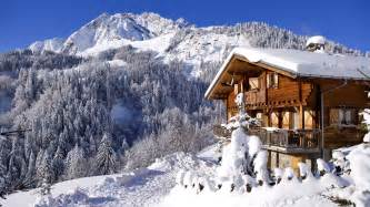 cabin in the mountains wallpaper