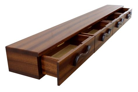 buy crafted 4 drawer floating shelf solid wood