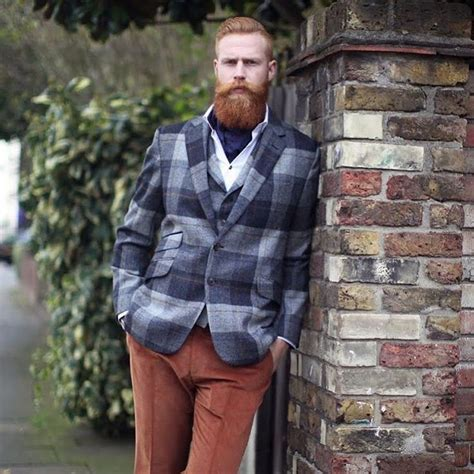 mens fashion for gingers gwilym c pugh full thick red beard mustatche beards