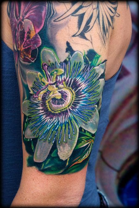 passion flower tattoo forbidden images studio tattoos realistic