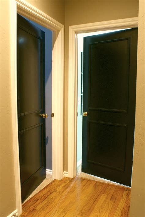 Painted Doors Interior Black Interior Doors Dimples And Tangles