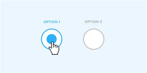 html design radio button design radio buttons with justinmind prototypes