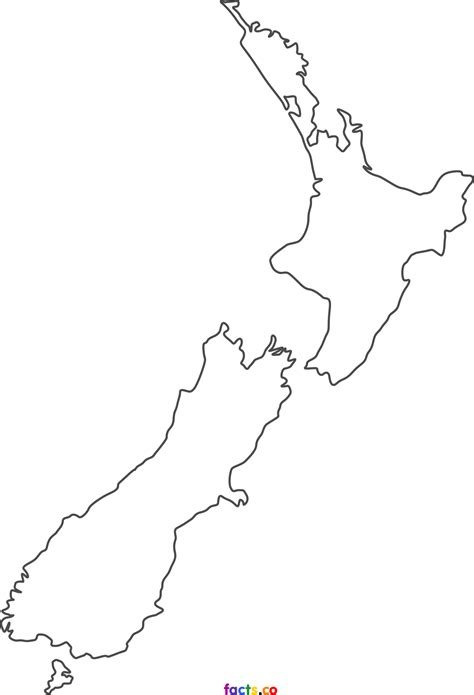 blank map new zealand printable