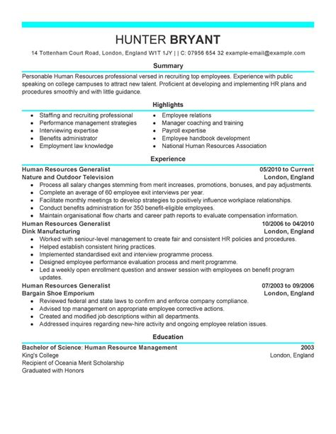Human Resource Resume by Human Resource Management April 2015