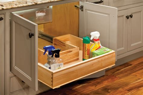 sliding cabinet organizers kitchen u shaped sliding shelf for sink cabinets contemporary
