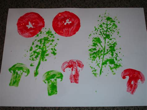printing with fruit and vegetables fruit and vegetable printing gardening with children