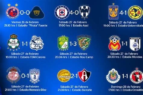resultados d la jornada 9 2016 liga mx 5 de marzo resultados de la octava jornada de la liga mx superl1der
