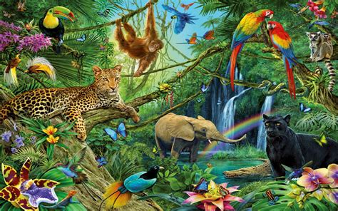 Toy Story Wall Mural animals of the jungle full hd wallpaper and background