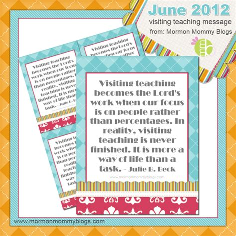 visiting teaching assignment cards template 5 free visiting teaching handouts for june 2012 fab n free
