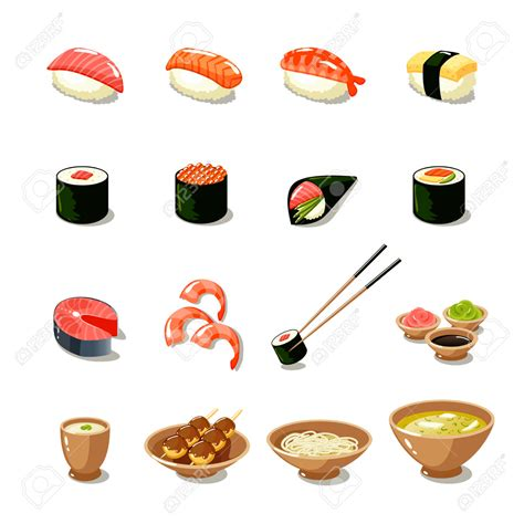 clipart illustrations sushi clipart illustration pencil and in color sushi