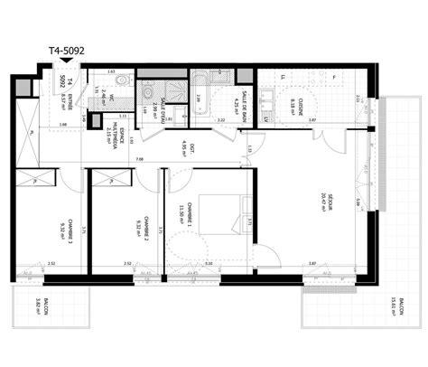 Cuisine Pour Studio 5092 by Appartement N 176 5092 Home Parc Et Belvedere T4 De 84 16 M 178