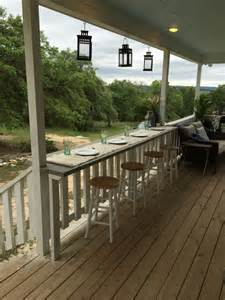 Deck Railing Bar Top by Turn Your Railing Into A Quot Eat Up Quot Bar Rhyne Farm