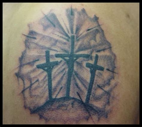 three cross tattoo 3 crosses picture