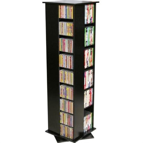 dvd storage tower 56 quot 4 sided cd dvd spinning tower 2385