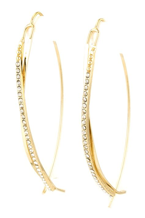 Bar Threader Earring pave bar threader earrings