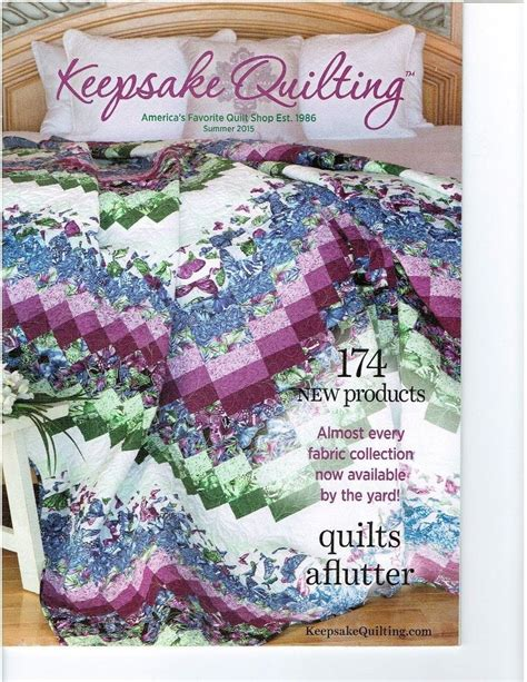 Keepsake Quilting Catalog by Keepsake Quilting Catalog Quilts A Flutter Joann Hoffman
