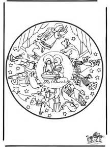 mandala weihnachtskrippe weihnachten malvorlagen