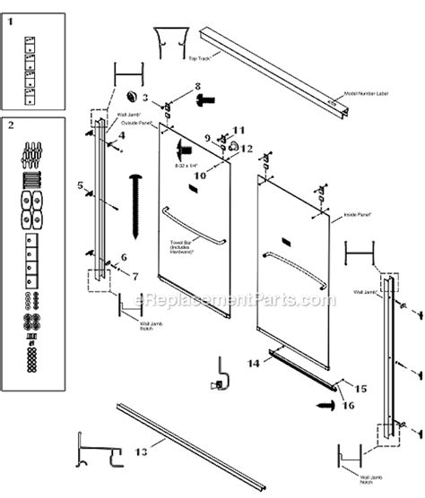 Kohler K R702206 L Parts List And Diagram Kohler Shower Door Replacement Parts