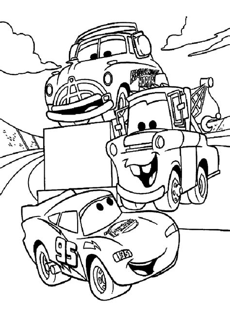 free coloring pages with cars disney cars coloring pages free large images arts