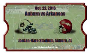 Auburn tigers vs arkansas razorbacks football tickets oct 22 2016