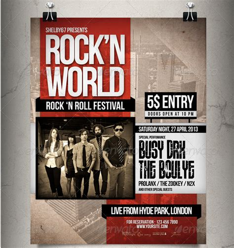 Rock Flyer Template by 25 Best Free Premium Poster Templates Designmaz