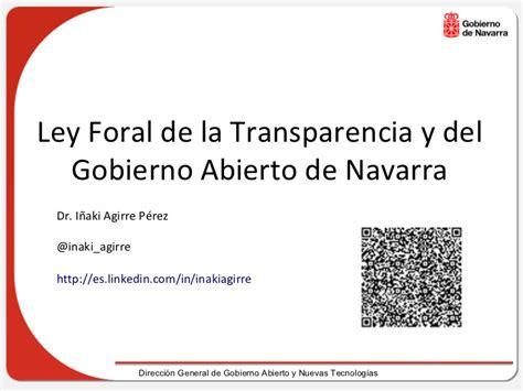 ley 14078 ministerio de gobierno ley de transparencia y gobierno abierto de navarra