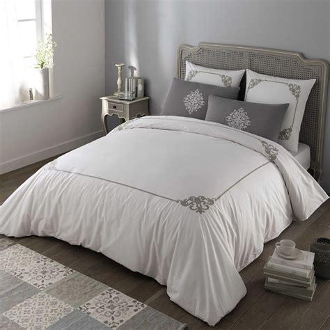 gray king size bedding coleto cotton king size bedding set in white grey 220 x