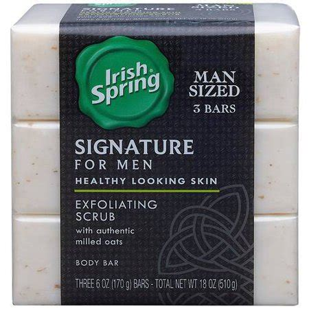 why a man would receive scrub soap as a gift upc 035000142276 signature for exfoliating scrub deodorant bar soap 6 oz 3