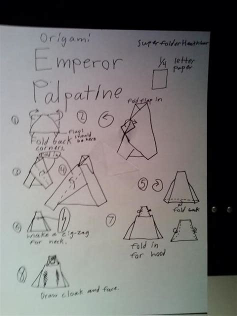 How To Make Origami Emperor Palpatine - how to make origami emperor palpatine 28 images