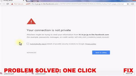 chrome keeps not responding fix your connection is not private in chrome firefox fix