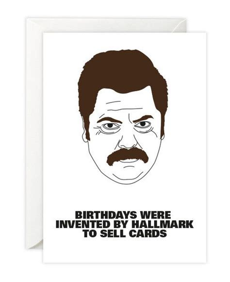 Swanson Birthday Quote Ron Swanson Birthday Card Products To Sell And Messages
