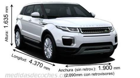 medidas y dimensiones de coches marca land rover