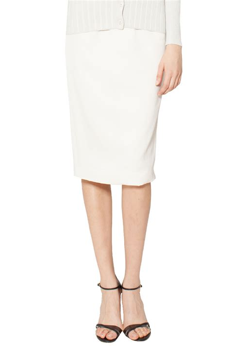 raoul midi pencil skirt in white lyst