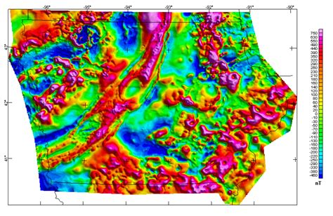 america magnetic anomaly map iowa magnetic and gravity maps and data