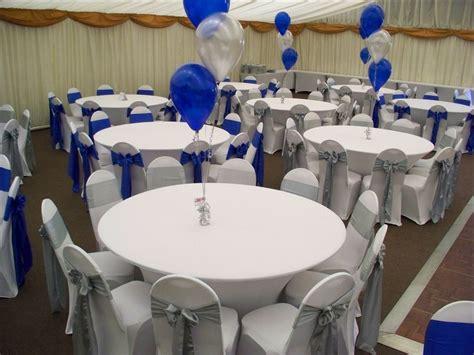 royal blue and silver wedding decor centerpieces wedding