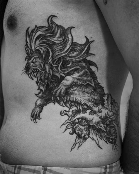 lion side tattoo 88 best ideas images on