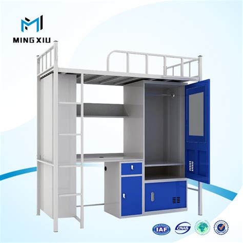 student bunk bed with desk luoyang low price bunk bed with desk metal student