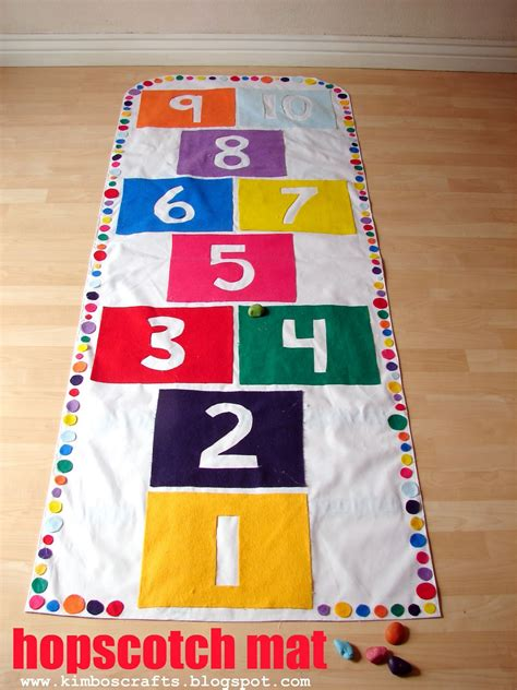 Hop Scotch Mat by Indoor Activities For The Idea Room