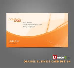orange business card design design3edge com